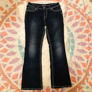 Silver Suki Flap Jean